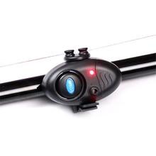 Nueva Luz LED electrónica de pesca, clip de alarma de sonido para mordedura de pescado en caña de pescar, aparejos negros, suministros de herramientas de pesca