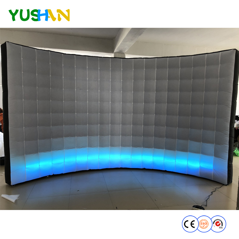 4m LED Ropes open air photo booth inflatable wall inflatable background Wall Used selfie Wall party backdrops For Hot sales 2018