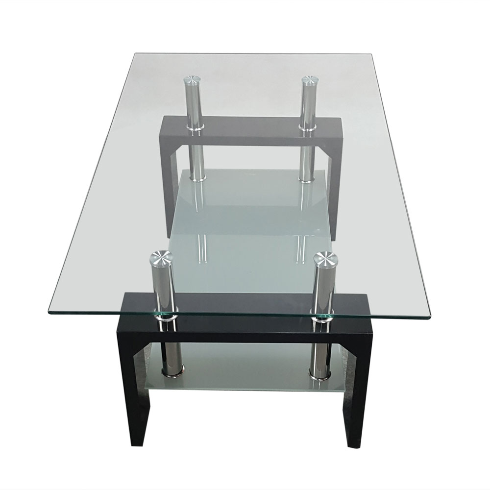 Clear Glass Furniture. Reno Coffee Table In Clear Glass Top With ...