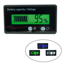 цена на New LCD Display Waterproof Lead-Acid Battery Capacity Indicator Voltage Tester 6-63V Power Meter