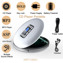 Portable CD Player with LCD Display Audio Music Travel CD Players CD R CD RW MP3 Support AZZ/ROCK/Classic Sound enjoy music