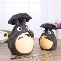 My Neighbor Totoro Piggy Bank Resin Totoro Figurines Japanese Style Coin Money Box 1 Piece Free Shipping
