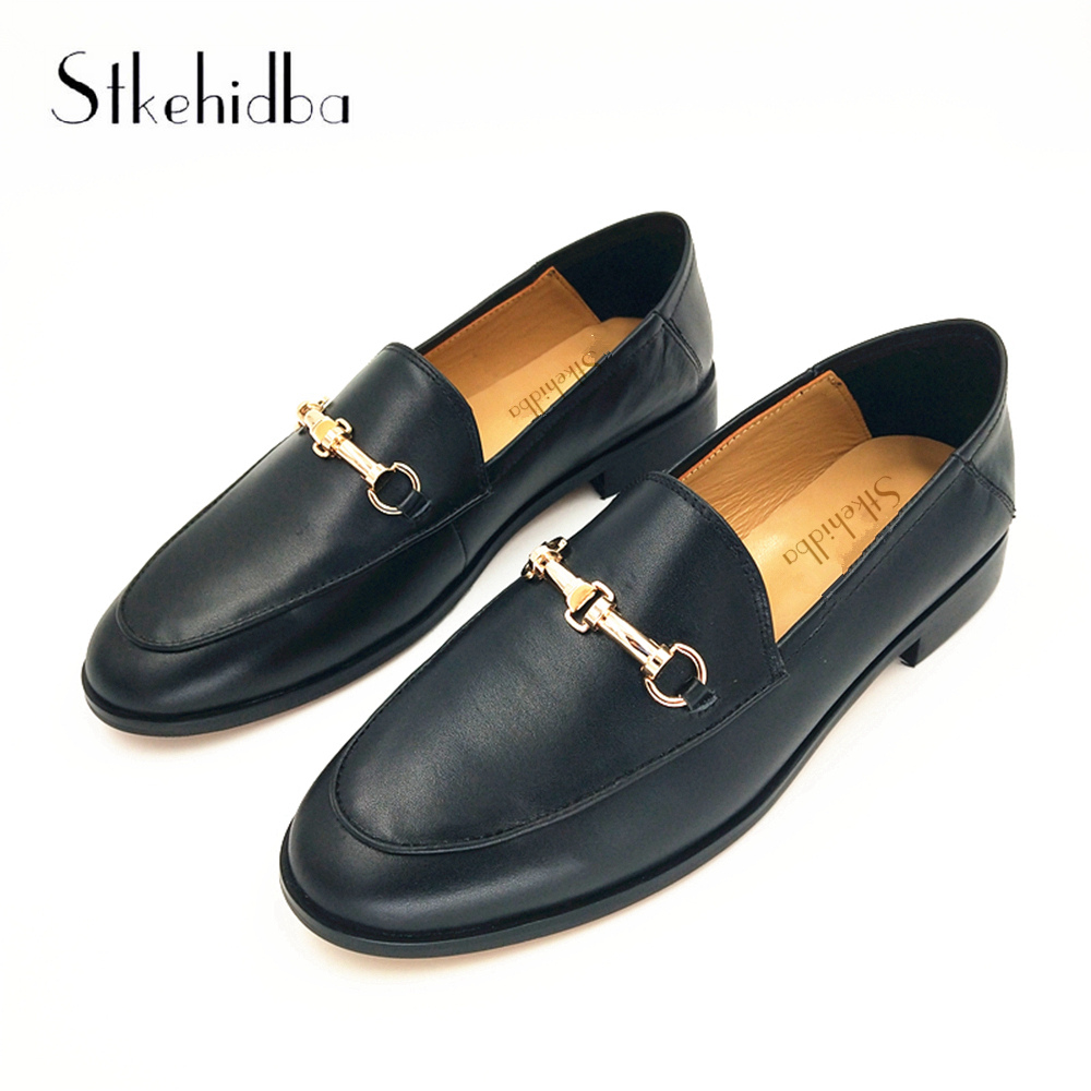 ae8b6da3fb76b Stkehidba Classic Fashion Women s Shoes Genuine Leather Women s Flats Shoes  Top Quality Shoes For Women Plus