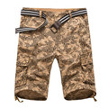 Summer Cargo Shorts Camo Mens Shorts Khaki  Casual Military   Short Shorts ZMF789563
