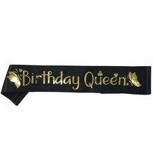Elegante Verjaardag Koningin Satijn Sash Vrouwen Meisjes Koningin Verjaardag Sjerp Verjaardagsfeestje Decoraties Ideeën Levert