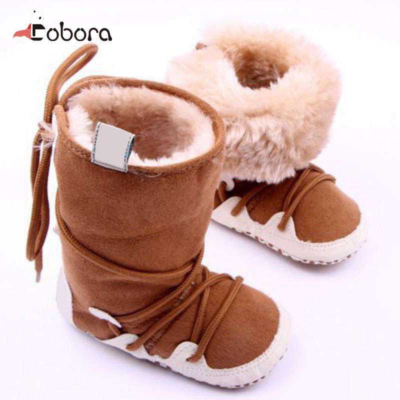 Autumn Winter High Velvet Toddler First Baby Boy Girl Walkers Shoes Sandals Sneakers Moccasins Boots Hot Sapato Menina