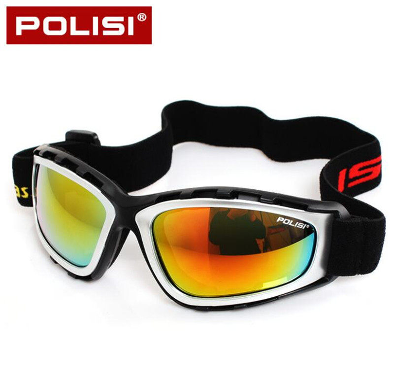 POLISI Men Women Ski Snowboard Goggle Anti-Fog Winter Skiing Glasses Motorcycle Motocross Protective Eyewear