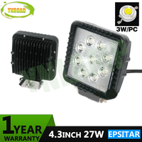 4 Inch 27W Led Work Light Spot Flood Beam For Offload Truck Use 9pcs 3W Epsitar