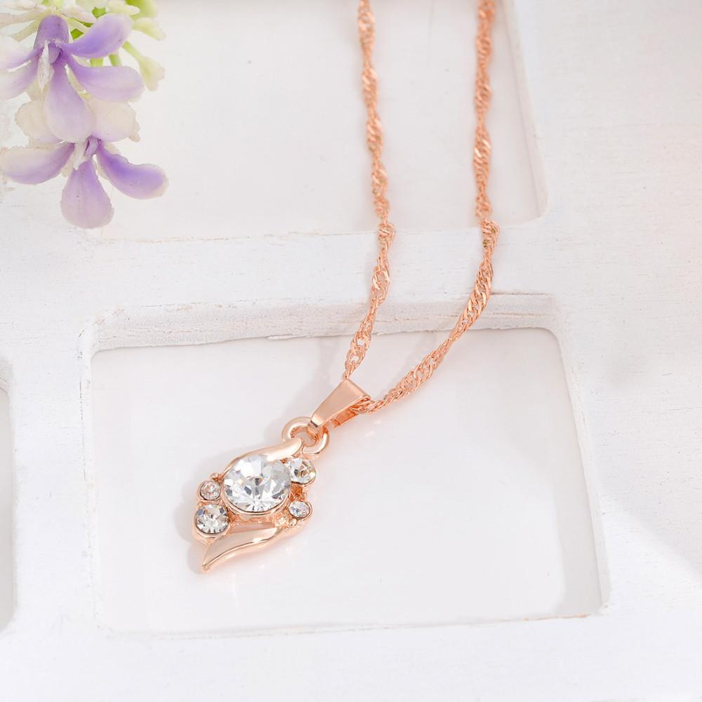 HTB19LfHGVXXXXXdapXXq6xXFXXXD 3-Pieces Rhinestone Studded Rose Gold Women Jewelry Gift Set