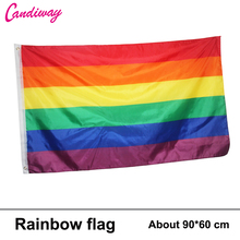 Hot Sale New 90cm x 150cm Rainbow Flag 3×5 FT Polyester standard Flag Gay Pride Peace Flags Outdoor Indoor
