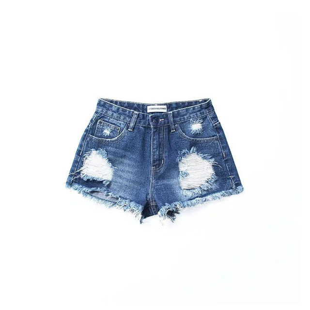 f0aaf9ba819380 Summer Sexy Ass Hole Denim Shorts Women European Style High Waisted Hot  Jeans Shorts Black Torn For Vacation Short En Jean Femme