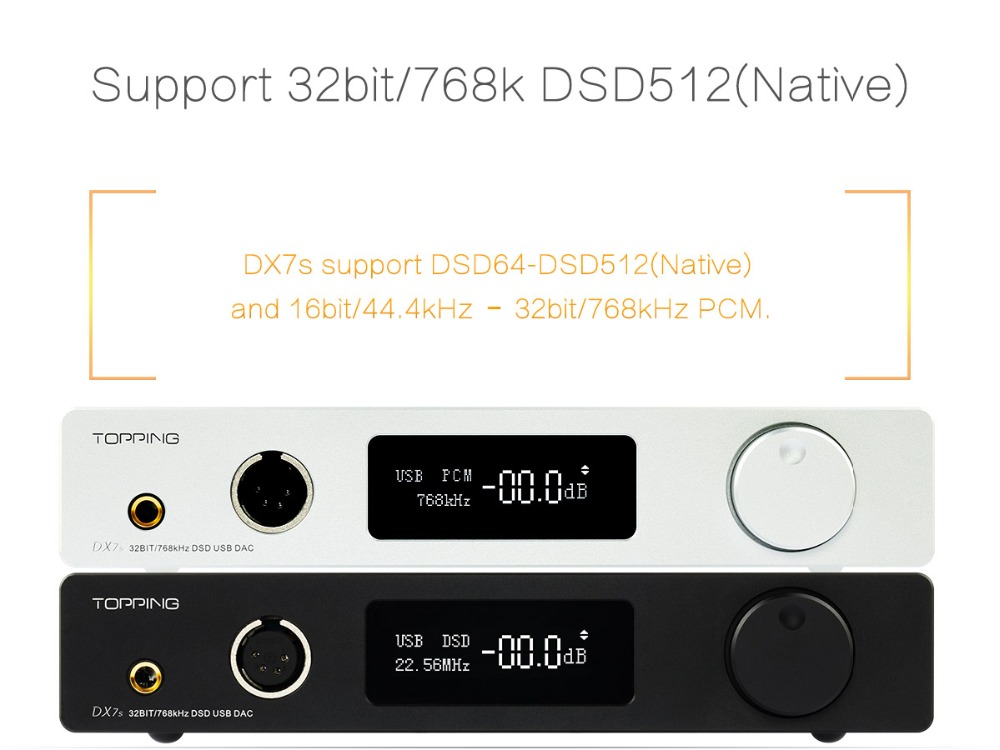 TOPPING DX7s 32Bit/768K DSD512 Full balanced USB DAC Amplifier-02