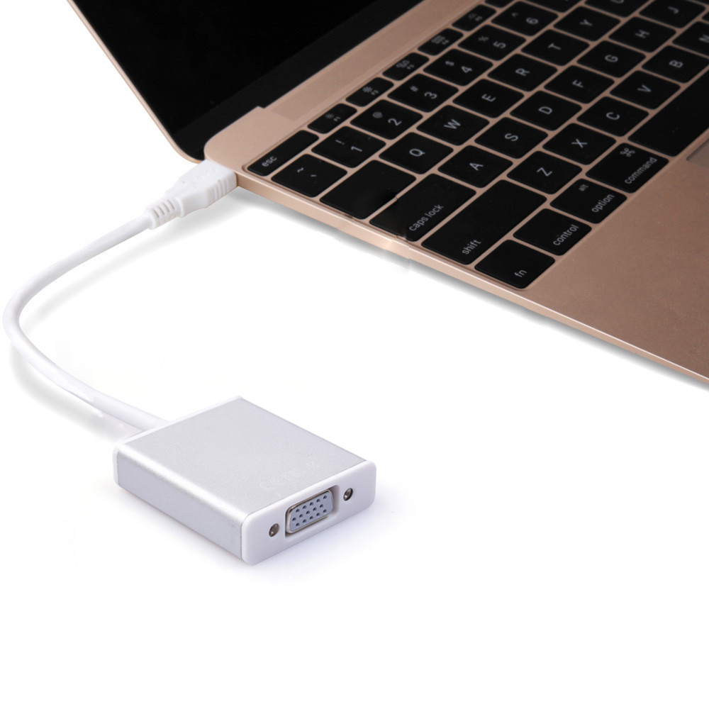 Best Price USB 3.1 Type C USB-C to VGA Adapter Reversible for Macbook 12 inch VGA Converter best price 5pin cable for outdoor printer