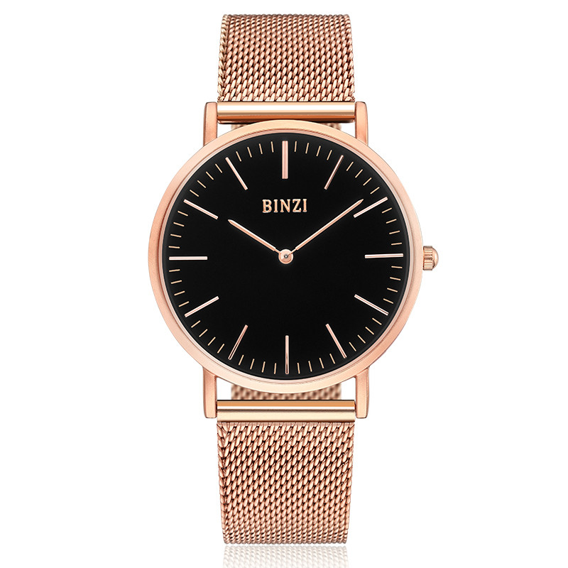Top Luxury Watch Men Brand Men's Watches Thin Stainless Steel Mesh Band Quartz Wristwatch Fashion casual watch Relogio Masculino luxury brand biden mens watches multi time zone casual quartz wrist watch men mesh stainless steel band relogio masculino