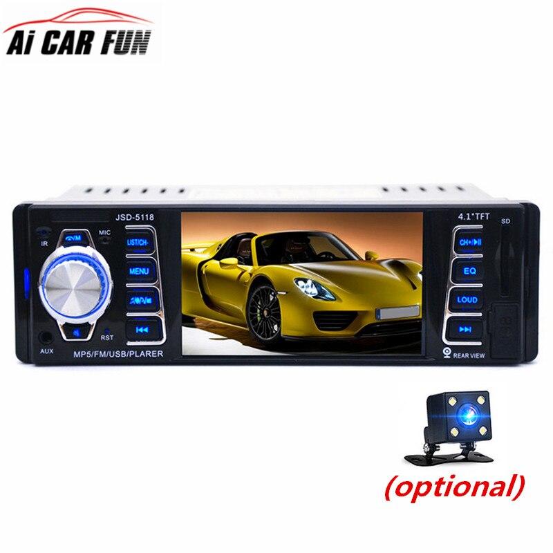4 1 inch HD TFT 1 Din Autoradio Bluetooth Car font b Radio b font Sound