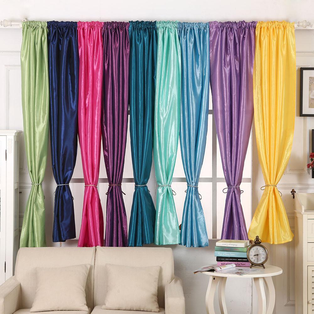unids color slido ventana curtain home decoracin apagn cortinas panel de tratamiento puerta cortinas de