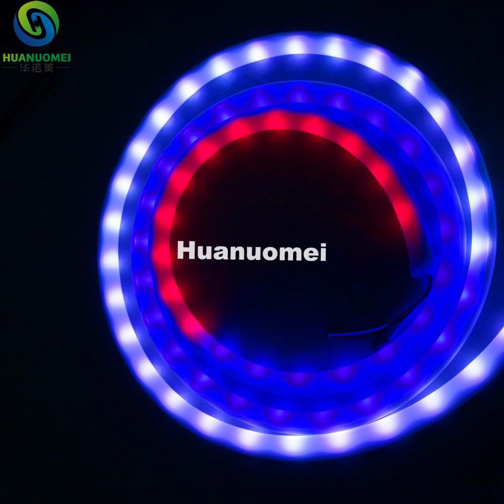 5 m DC12V WS2811 led néon lumière de pixel RVB pleine couleur; 60leds/m avec 20 pixels/m; étanche en tube laiteux
