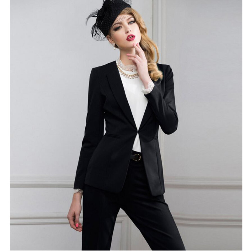 2017 Sale Pantalones Mujer font b Women b font Suit Fashion Professional Ol Dress Business Formal