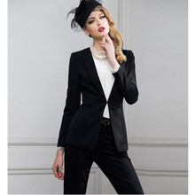 2017 Sale Pantalones Mujer Women Suit Fashion Professional Ol Dress Business Formal Jacket + Pants High Quality Custom Women's