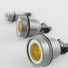 SOLLED E27 de aluminio Portalámparas retro de calor de cerámica base de bombilla con tornillo hembra Vintage luz de techo adaptador