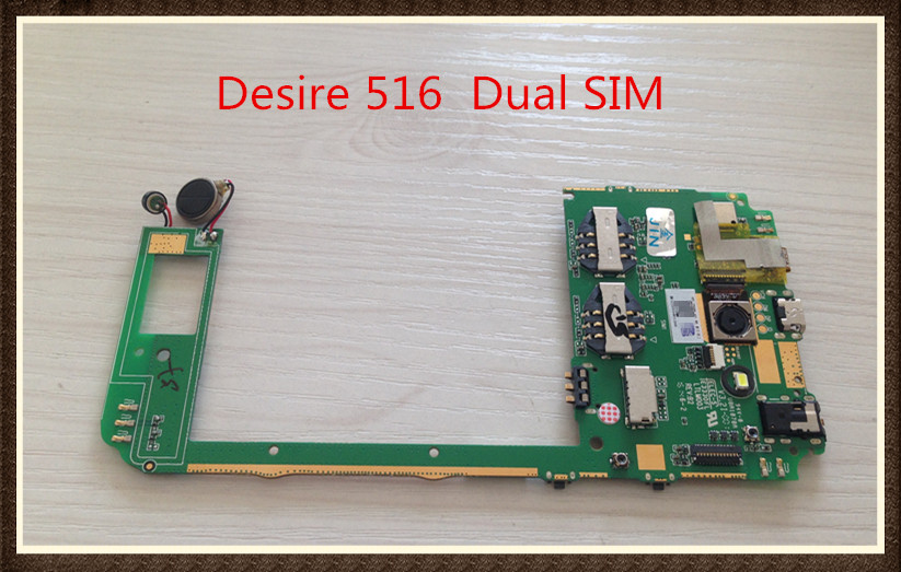 Choose Language ~Unlock Original Motherboard For  Desire 516 / Dual SIM 516w 516t Mainboard Logic Board free shipping choose language unlock good quality original motherboard for one m7 802 32gb dual sim free shipping