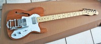 Top quality GYTL 2047 Ash wood color white plate F JAZZ Hollow big rocker telecaster Guitar, Free shipping