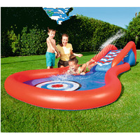 Giant Surf 'N Double Slide Inflatable Slide Center Game For Child Summer Residential Pool Outdoor Toy C111