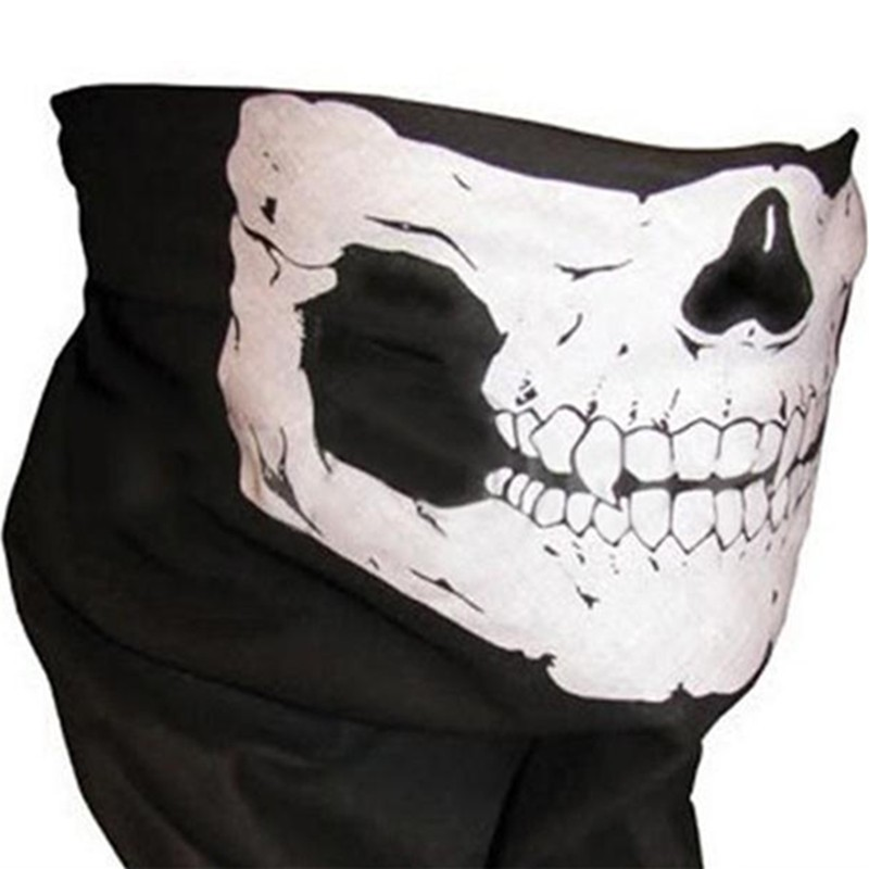 Skull Scarf Multifunctional Seamless Tubular Bandana Men Motorcycle Scarf 25*48cm Running Headband Men Halloween Bandana