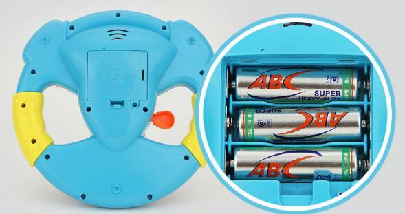 Купить с кэшбэком 2019 Promotion Toy Musical Instruments For Kids Baby Steering Wheel Musical Handbell Developing Educational Toys