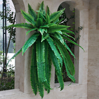 The Persian wall fern plant leaves artificial plant mall background wall Gallery window wedding decoration plastic plant leaves