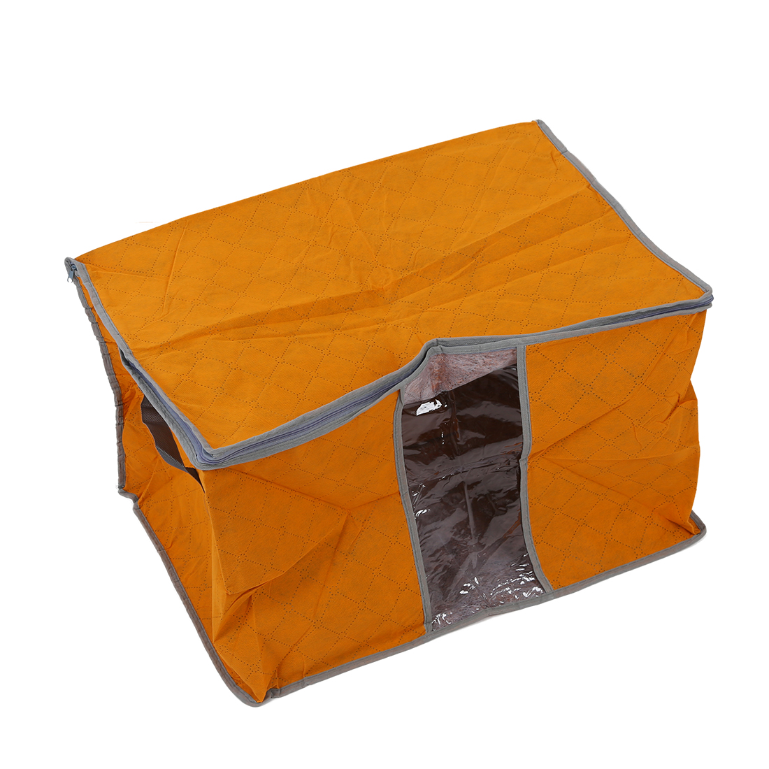 Hot Orange Quilt Blanket Pillow Under Bed Storage Bag Box Container Non-woven Fabric