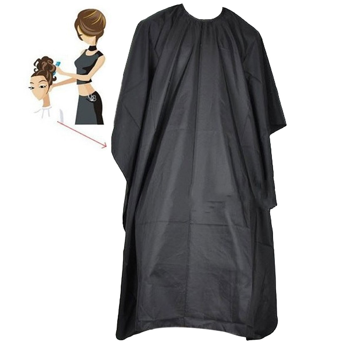 130*80cm Hot Haircut Cloth/salon Hairdressing Hair Cut Cloth Thickened Hair Hairdressing  Fabric Waterproof Apron