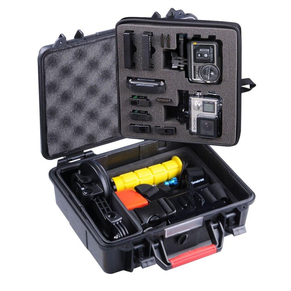 Sac de transport à étui rigide Smatree GA500 Floaty/résistant à l'eau pour Gopro Hero 7,6, 5,4, 3 +, GOPRO HERO (2018), pour caméra d'action DJI OSMO