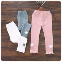 2016 Otoño Nuevo Producto Del Estilo de Corea ropa de Los Niños Pantalones de La Muchacha Encantadora Del Pelo Underpant Auto-cultivo Del Todo-Fósforo Pantalones Largos