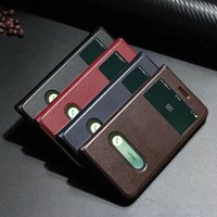 SS Window Smart Cover Case For IPhone 7 7 Plus Case Top Quality Genuine Leather Phone