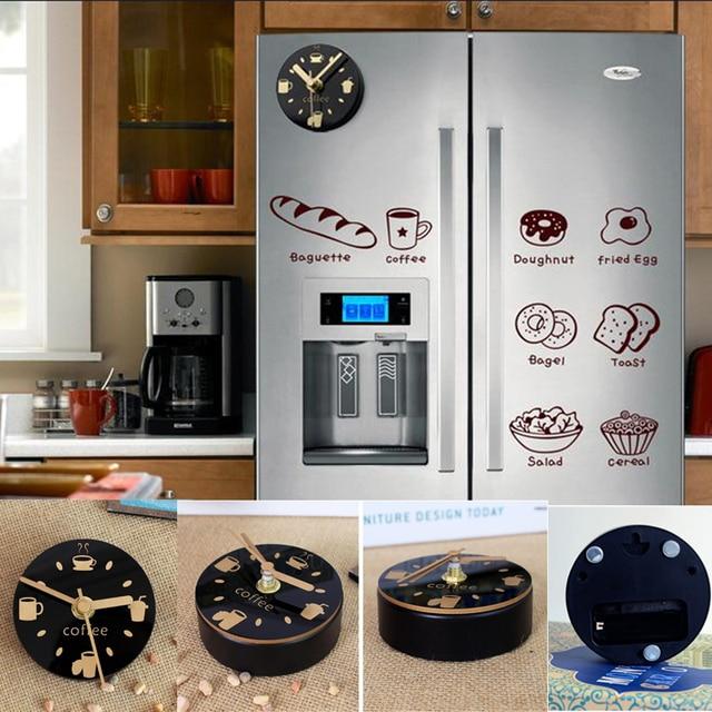 Amazing Mute Refrigerator Magnets Souvenir Digital Self Adhesive Wall Clock Fridge  Magnets Blanks Magnetic Board Kitchen Watch