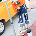 2016 new Thailand tide brand cloth thin hair straight jeans female all-match women fashion jeans
