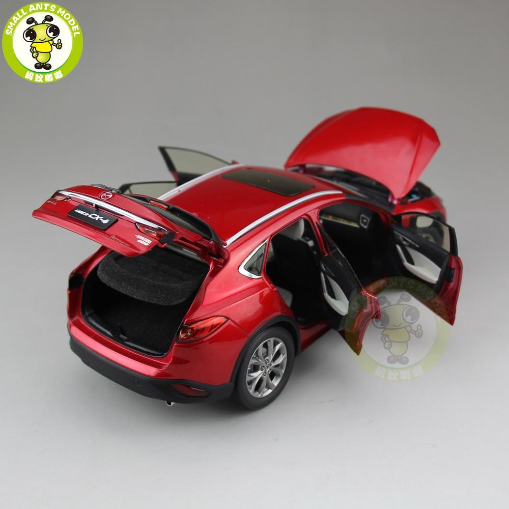 1/18มาสด้าCX 4 SUV D Iecastรถเอสยูวีรุ่นของเล่นเด็กสาวของขวัญคอลเลกชันสีแดง-ใน โมเดลรถและรถของเล่น จาก ของเล่นและงานอดิเรก บน   3