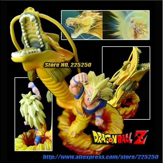 Japan Anime Dragon Ball Z Genuine Original MegaHouse Capsule Gashapon NEO Figure Part 15 - Goku Super Saiyan 3 (8cm tall)