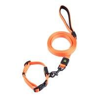 1 Collar 1 Leashes Durable Nylon Pet Dog Collar Lead Leash Collar Set Small Large Middle