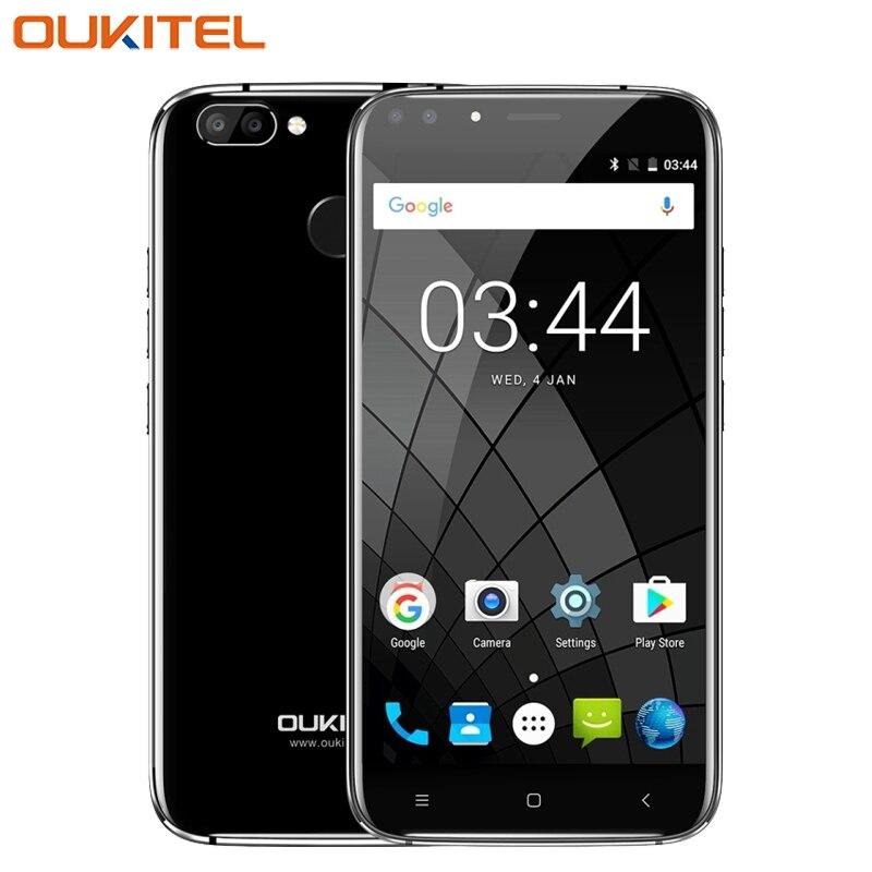 Original Oukitel U22 Mobile Phone 5.5 inch HD 2GB RAM 16GB ROM MTK6850A Quad Core Android 7.0 Four Cameras 2700mAh Smartphone