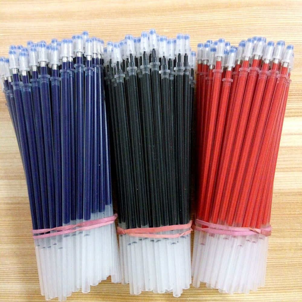 HOT 10Pcs/Lot 0.5mm Gel Pen Refill 2 Colors Ball Pen Refills Black/Blue Ink Writing Pens Office & School Supplies Gifts truecolor 20pcs lot 0 35mm black blue ink gel pen refills smooth writing school fashion office stationery for students gifts