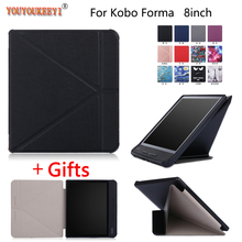 Case For Kobo Forma 8'' 2018 Transformers Stand Flip Leather Cover For KOBO Forma 8 inch Auto Sleep/Wake up case+Film+Stylus