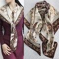 110x110 cm 100% Impresión De Seda Cuadrados Bufanda Chales y Abrigos de Lujo de Las Mujeres de Primavera y Verano Bufandas de La Bufanda Diseñador ST