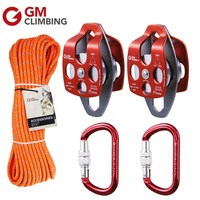 Block and Tackle Rescue Kit for 4:1 / 5:1 Pulley System Outdoor Garden Tree Working Hauling Climbing Equipment
