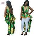 Vestidos para las mujeres africanas o-cuello de la sirena vestidos de partido de las mujeres vestidos de maxi dress dashiki mujeres de talla grande ropa 6xl brw wy145