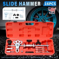 15pcs Metal Slide Hammer Universal Slide Hammer Set Car Profile Remover Front Axle Puller Cars Repair Tools Kits