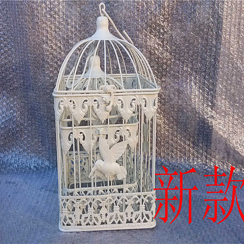 European iron bird cage wedding decoration window decoration bird cage shooting prop black and white copper free shipping