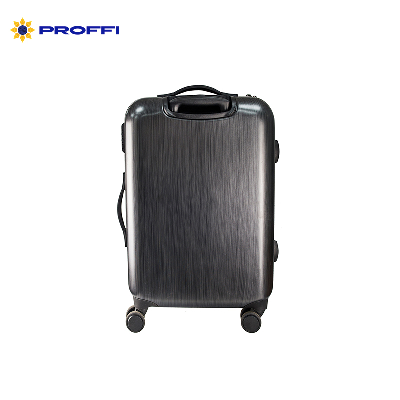 Black suitcase PROFI TRAVEL PH8866, L, plastic with retractable handle on wheels plastik injection tooling for plastic handle