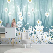 Wallpaper mural forest wood flower background wall
